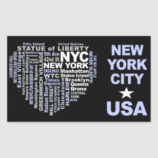NYCのステッカー 長方形シール