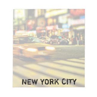 NYCのタクシーの抽象芸術 ノートパッド