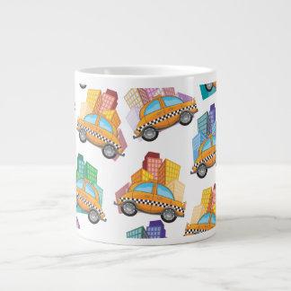 NYCのタクシー ジャンボコーヒーマグカップ