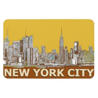 NYCのマスタードのスケッチ マグネット