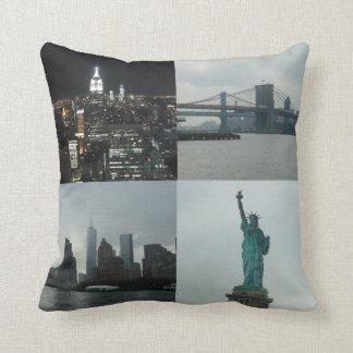 NYCの写真のモンタージュのマンハッタン正方形のクッション クッション