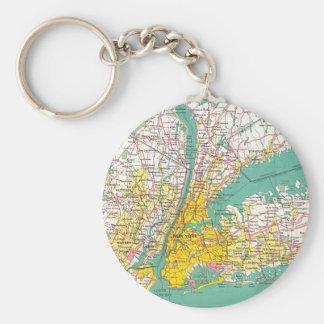 NYCの地図Keychain キーホルダー