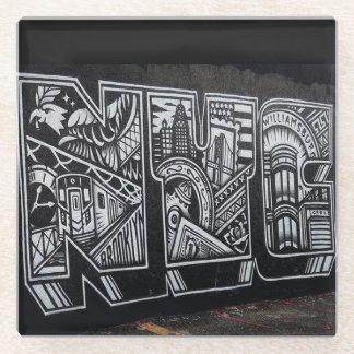 NYCの壁画のコースター ガラスコースター