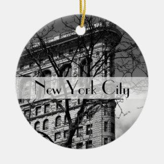 NYCの平らな鉄の建物 セラミックオーナメント
