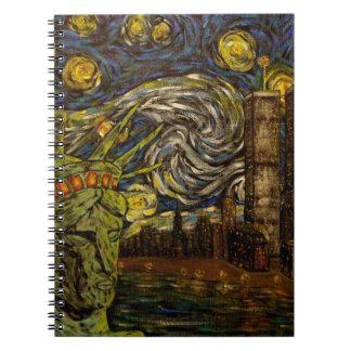 NYCの星明かりの夜: ツインタワー(本当タワー) ノートブック