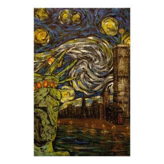 NYCの星明かりの夜。: ツインタワー(本当タワー) 便箋