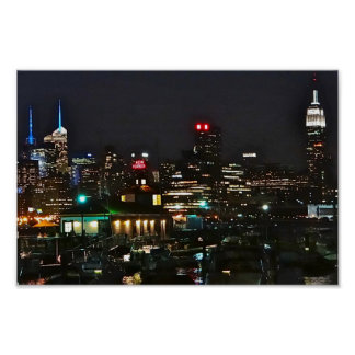 NYCの水辺地帯の眺め ポスター