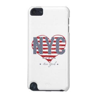 NYCの米国旗のハート iPod TOUCH 5G ケース