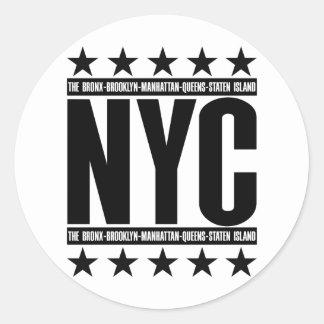 NYCの自治区 ラウンドシール