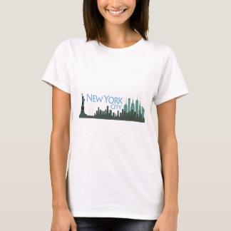 NYCの自由のスカイライン Tシャツ