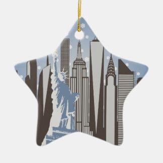 NYCの雪片 セラミックオーナメント