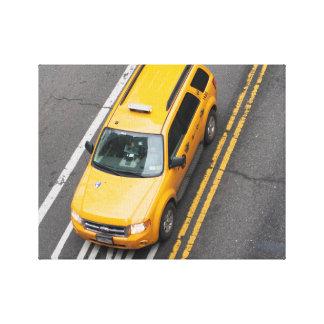 NYCの黄色いタクシー キャンバスプリント