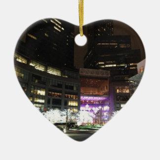 NYCコロンブスの円のクリスマスの照明のオーナメント セラミックオーナメント