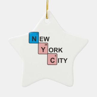 NYCニューヨークシティの周期表 セラミックオーナメント