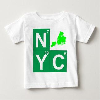 NYCニューヨークシティの地図 ベビーTシャツ