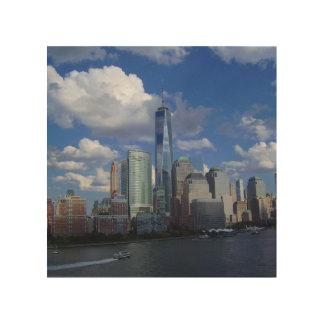 """NYCニューヨークシティWTC 8"""" x8""""木製の壁の芸術 ウッドウォールアート"""