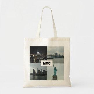 NYCマンハッタンの写真のモンタージュのトートバック トートバッグ