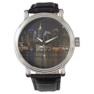 NYC夜スカイライン 腕時計