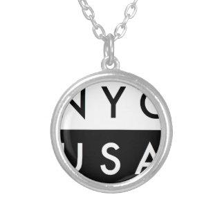 NYC米国 シルバープレートネックレス