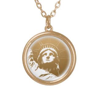 NYC記念品ニューヨークのネックレスの自由の女神 ゴールドプレートネックレス