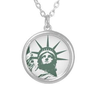 NYC記念品ニューヨークのネックレスの自由の女神 シルバープレートネックレス