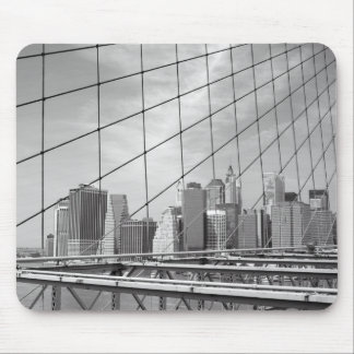 NYC財政地区のスカイライン マウスパッド
