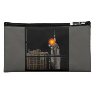 NYC食の空によって印刷される化粧品のバッグ コスメティックバッグ
