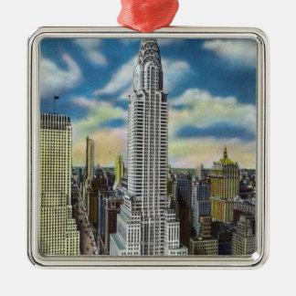 NYC、クライスラのYorkExteriorの新しい眺め メタルオーナメント