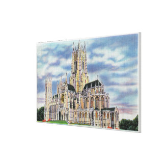 NYC、聖ヨハネの新しいYorkCathedral神 キャンバスプリント