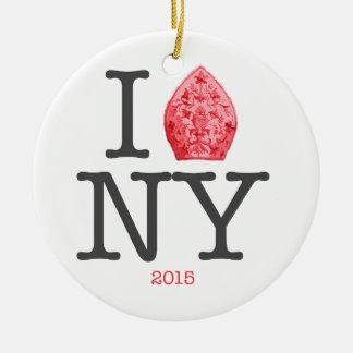 NYC 2015年法皇 セラミックオーナメント