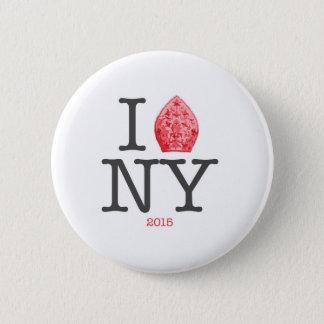 NYC 2015年法皇 5.7CM 丸型バッジ