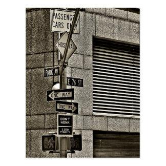NYC Streetcorner場面 ポストカード