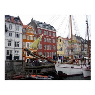nyhavnのボート ポストカード