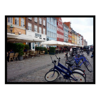 nyhavnを自転車に乗ります ポストカード