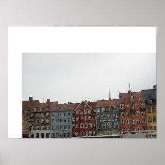 Nyhavn、コペンハーゲン ポスター
