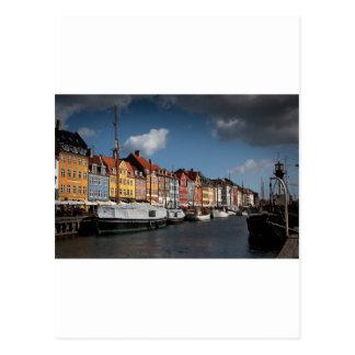 Nyhavn、コペンハーゲン ポストカード