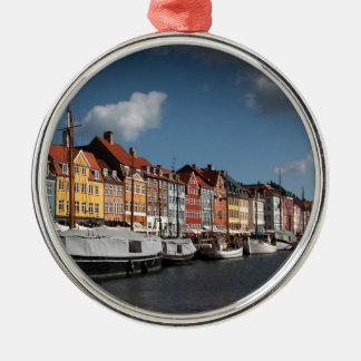 Nyhavn、コペンハーゲン メタルオーナメント