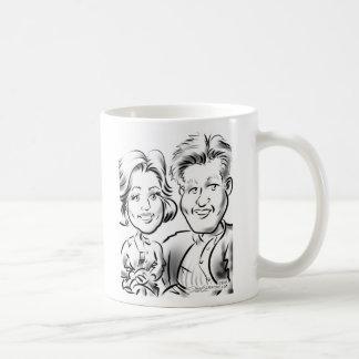 NYJTLの風刺漫画のマグのカップル コーヒーマグカップ