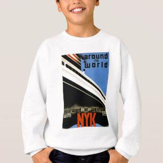 NYKラインが付いている世界中 スウェットシャツ
