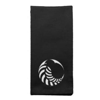 NZのキーウィ/銀製シダの紋章 ナプキンクロス