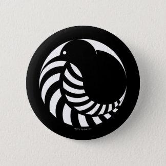 NZのキーウィ/銀製シダの紋章 5.7CM 丸型バッジ