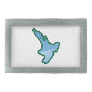 NZの北の島 長方形ベルトバックル