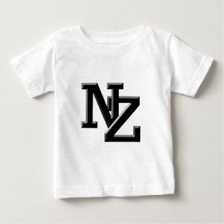 NZはニュージーランドに文字を入れます ベビーTシャツ