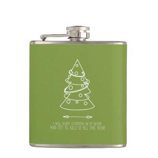 Oのクリスマスツリー|の緑の固体 フラスク