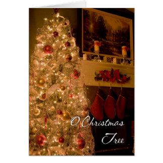 Oのクリスマスツリー カード