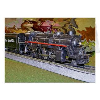 Oのスケール・モデルの列車 カード