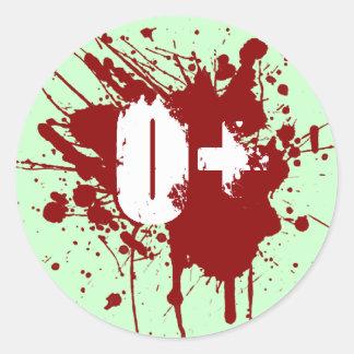 Oの前向きな血液型寄付の吸血鬼のゾンビ ラウンドシール