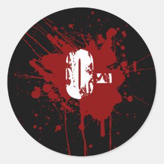 Oの否定的な血液型寄付の吸血鬼のゾンビ ラウンドシール