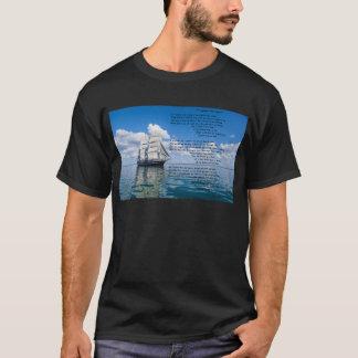 Oの大尉の下記によって私の大尉: ウォルト・ホイットマン Tシャツ