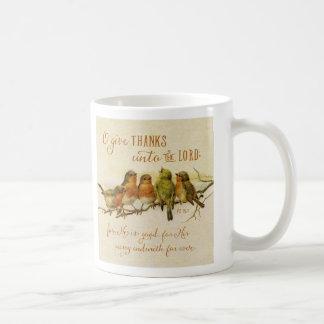 Oは主に感謝を与えます コーヒーマグカップ